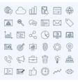 Line Development Icons vector image