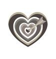 heart target arrow love cupid icon valentine vector image