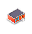 isometric industrial building model concept vector image