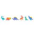 cute of prehistoric animals vector image
