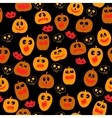 Halloween seamless pattern with Pumpkin silhouette vector image