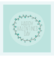 Congratulations in honor of Valentines Day vector image
