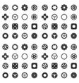 Machine Gear Wheel Cogwheel seamless pattern vector image