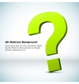 3D question mark Background vector image vector image