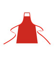 apron mockup chef bbq template cooking vector image vector image