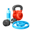 background with fitness equipment vector image vector image