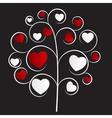beautiful heart tree vector image