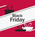 black friday gift box and ribbon with shadow big vector image