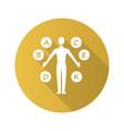 body vitamins yellow flat design long shadow vector image vector image