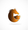brown horse isolated icon vector image vector image
