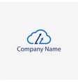 cloud arrow logo template vector image vector image