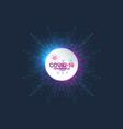 coronavirus 2019-ncov banner template corona vector image