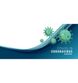 covid19-19 coronavirus concept banner with text vector image vector image