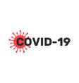 covid19-19 coronavirus inscription typography