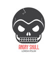 crazy skeleton skull cartoon icon vector image