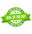 deal day round ribbon isolated label deal vector image vector image