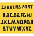 Decorative textured ABC letters Alphabet vector image vector image