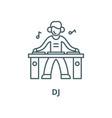 dj line icon linear concept outline sign vector image vector image