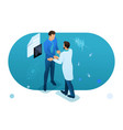 doctor communicates with patient health care vector image