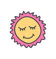 drawing happy smiling sun funny greetings for vector image