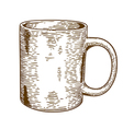 engraving mug vector image vector image