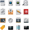 File server administration icon set vector | Price: 1 Credit (USD $1)