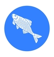 Fish icon in black style isolated on white vector image vector image
