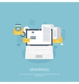 Flat spamming background vector image vector image