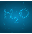 H2O background vector image vector image