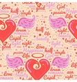 Heart with wings Design seamless vector image vector image