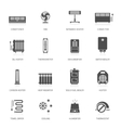 Heating icons vector image