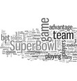 how to bet on superbowl vector image vector image