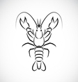 image an lobster design vector image vector image