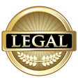 Legal Gold Label vector image vector image