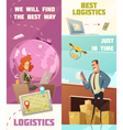 Logistics Vertical Banners Set vector image vector image