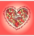 Love card Red and orange heart design with vector image vector image
