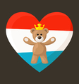 Luxembourg Royal Teddy Bear vector image vector image