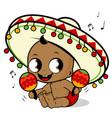 mariachi baboy playing maracas vector image vector image