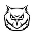 mascot stylized owl head vector image vector image