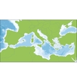 Mediterranean Sea map vector image