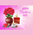 mothers day composition vector image vector image