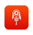 native american dreamcatcher icon digital red vector image