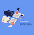 notary service advertisement horizontal web vector image