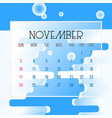 november 2019 calendar leaf vector image