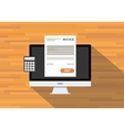 Online digital invoices vector image
