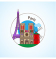 paris france detailed silhouette vector image