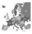 political map of europe continent in four shades vector image vector image