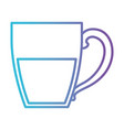 porcelain mug of coffee with handle gradient color vector image vector image