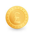 pound gold coin isolated on white background vector image vector image