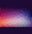 purple blue lowpoly abstract background vector image vector image
